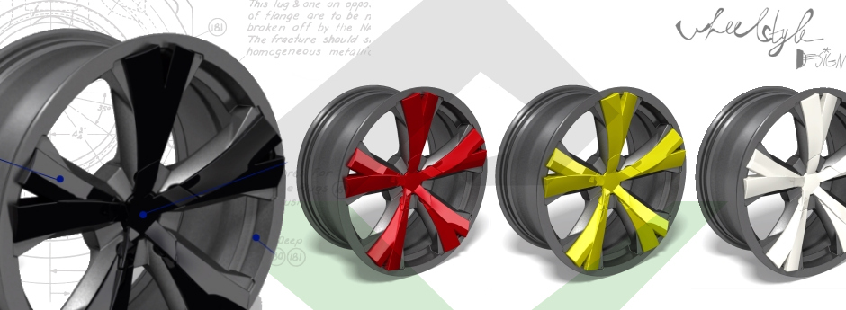 Design study – decorative protection of an alloy wheel rim